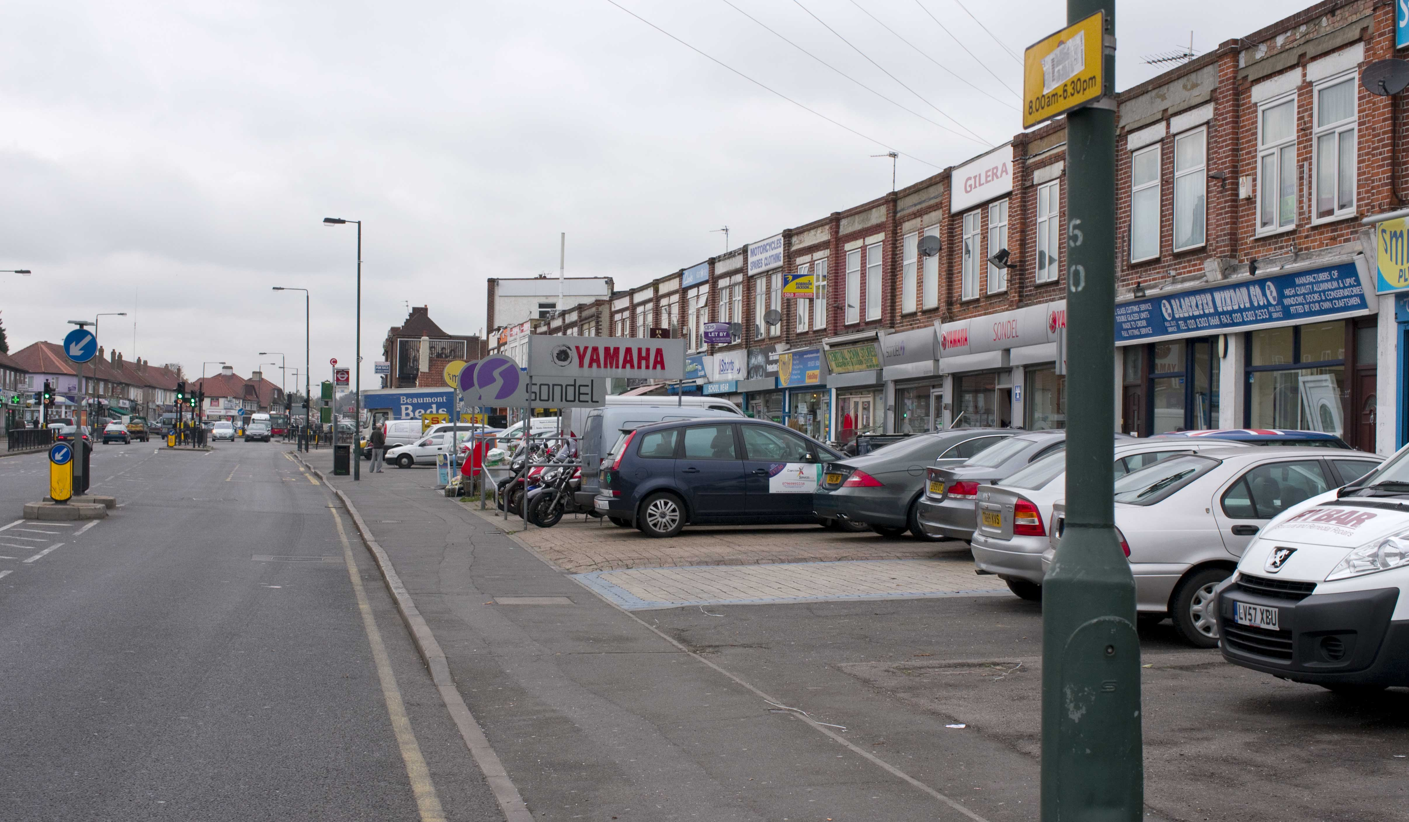 40+ shops, seven parking spaces