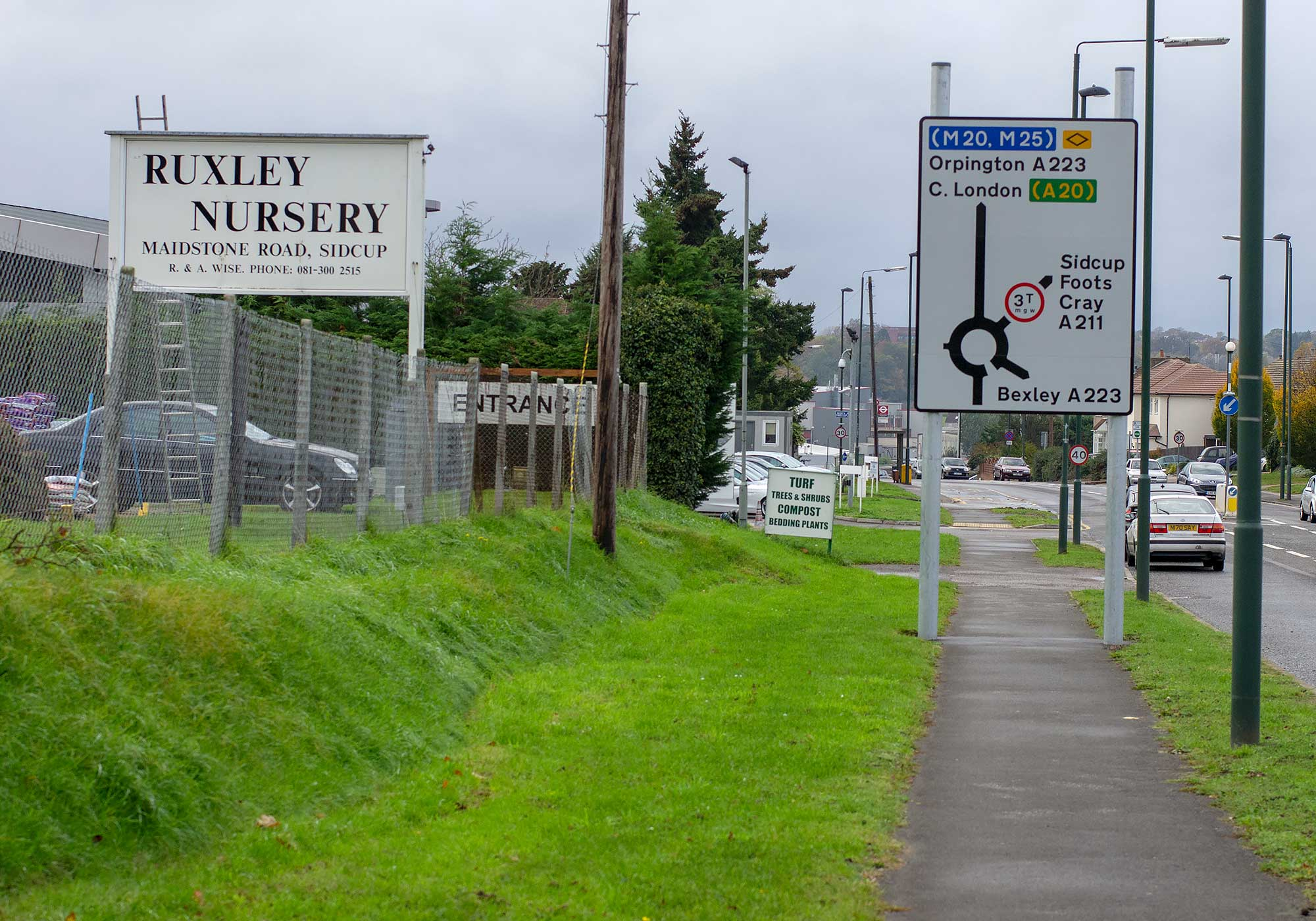 Ruxley nursery sign