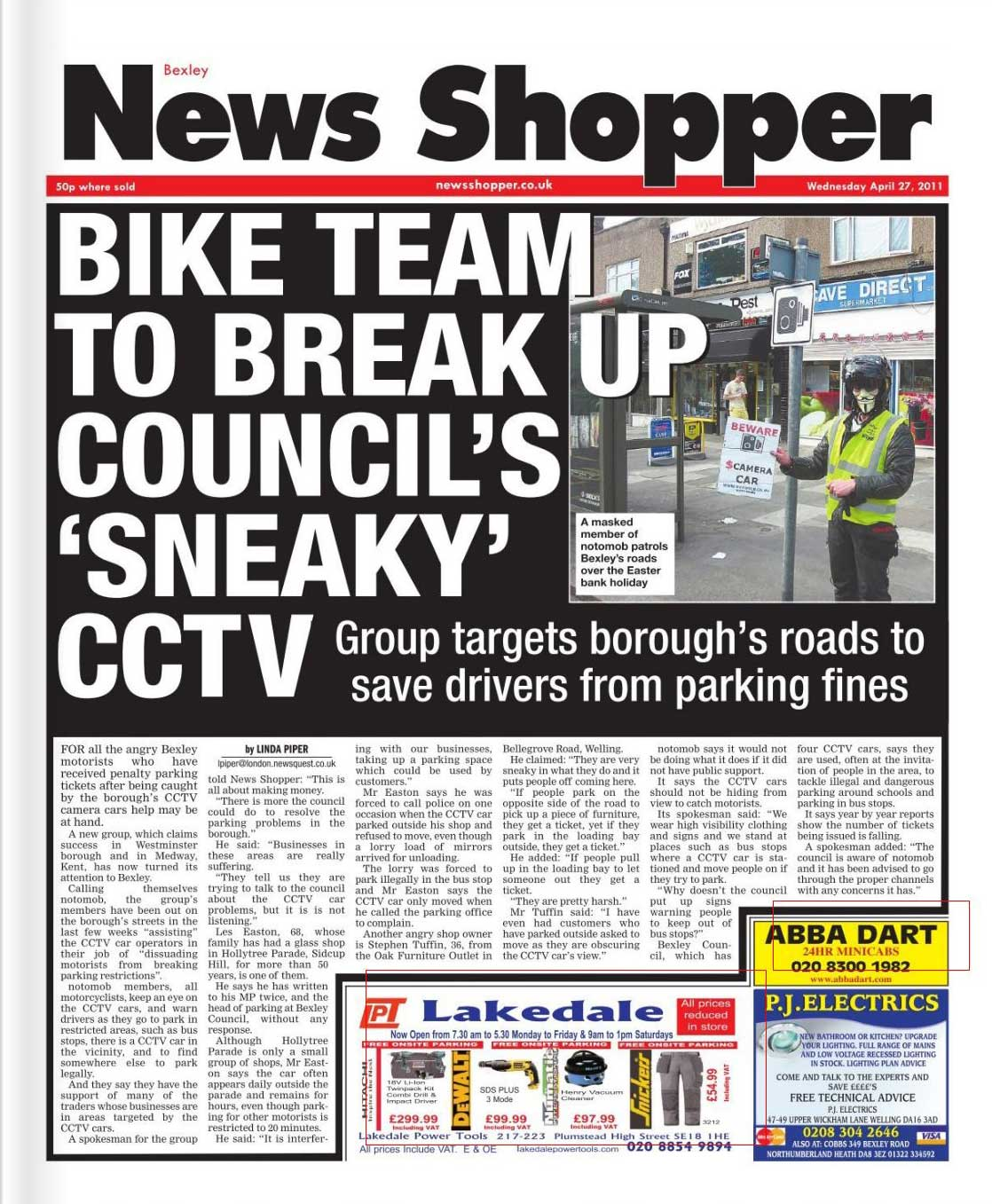 News Shopper front page
